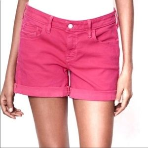 Anthro Pilcro & Letterpress Hot Pink Denim Shorts